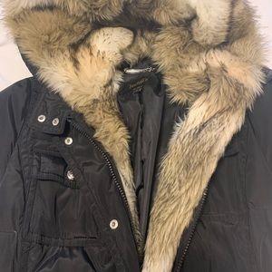 Full length down coat